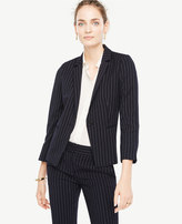 Ann Taylor Pinstripe One Button Blazer