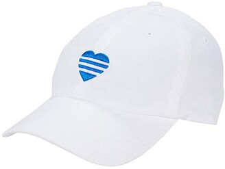 adidas 3-Stripe Heart Hat (White) Caps