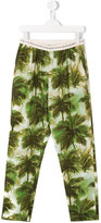 Hartford Kids - palm tree print trousers - kids - Cotton - 16 yrs