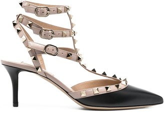 Valentino Rockstud-embellishment pointed-toe pumps
