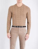 Ralph Lauren Purple Label Cable-knit cashmere jumper