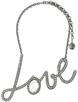 Lanvin embossed Love necklace