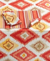 """Bardwil Ocean Ikat Coral Collection 70"""" Round Tablecloth"""