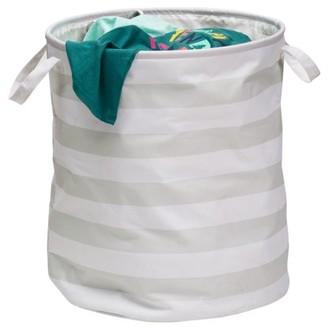 Honey-Can-Do Kids Collection Stripe Hamper, Grey