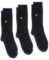 Lyle & Scott New Mens Blue Triple Pack Vintage Cotton/Polyamide Socks Casual