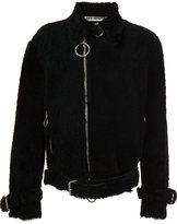 Off-White shearling biker jacket