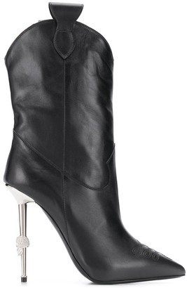 Philipp Plein Pointed Stiletto Boots