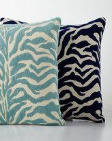 Elaine Smith Aqua Zebra-Print Outdoor Pillow