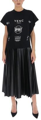 Givenchy Logo Pleated Dress