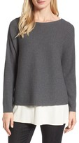 Eileen Fisher Women's Boxy Ribbed Wool Sweater