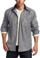 Pendleton Men's Long Sleeve Trail Shirt with Elbow Patch, Grey Mix Solid