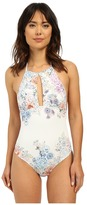 Shoshanna Summer Garden Maillot Neck One-Piece