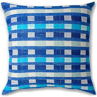 Bole Road Textiles Mursi 26x26 Pillow - Azure