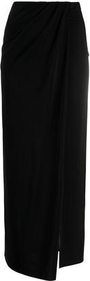 Andamane Draped Midi Skirt