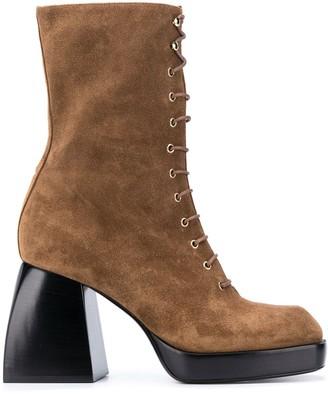 Nodaleto Bulla lace-up platform boots