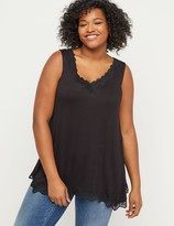 Lane Bryant Lace-Trim Swing Tank