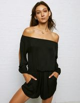 American Eagle Outfitters Don't Ask Why Silky Off-the-Shoulder Romper