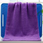 "Bamboo Fiber Towel, 11.8"" x23.6"" Beauty Bamboo Fiber Towel ,Thickening Bath Towel Bamboo, Fiber Washing Towel,Towels For Wiping The Sweat – 3 PCS (purple)"