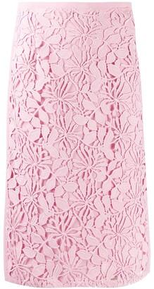 No.21 Floral Midi Skirt