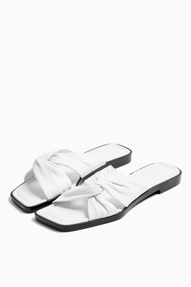 Topshop PACIFIC White Leather Twist Sandals