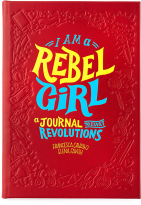 Graphic Image Rebel Girl Leather Bound Journal