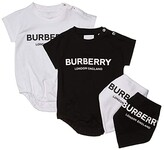 Burberry Berta Short Sleeve Set (Infant) (Black/White) Kid's Active Sets
