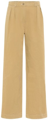 Acne Studios High-rise wide-leg cotton pants