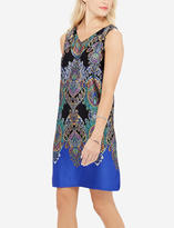 The Limited Silky Printed V-Neck Shift Dress