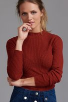 Dynamite Ribbed Mock Neck Sweater
