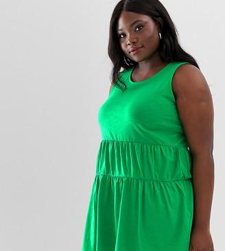 Junarose long tiered tunic top-Green