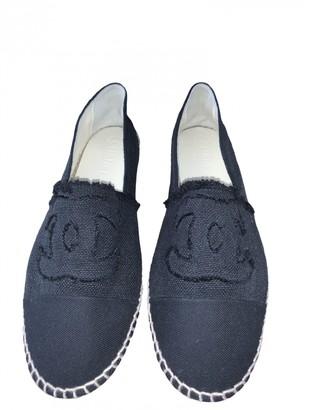 Chanel Navy Cloth Espadrilles
