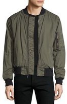 Hudson Jet Puffer Bomber Jacket, Army Green