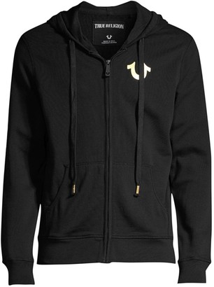 True Religion Metallic Double Puff Hoodie