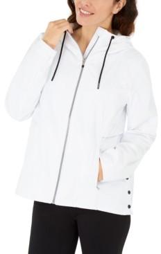 Calvin Klein Hooded Side-Snap Jacket