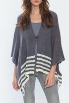 Wooden Ships Hand-Knit Button Poncho
