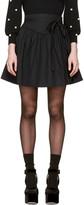 Marc Jacobs Black Waist Tie Miniskirt