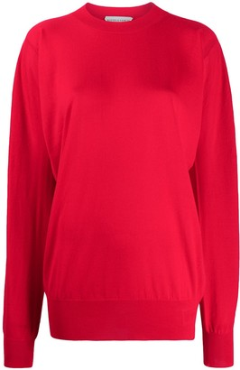 Bottega Veneta Draped Crew Neck Jumper