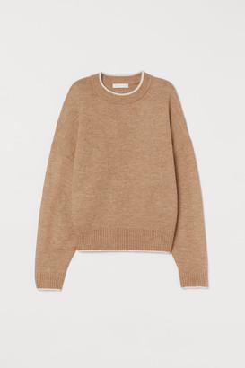 H&M Fine-knit Sweater - Beige