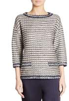 St. John Vany Tweed Knit Top