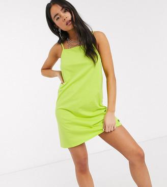 Collusion swing cami mini dress in lime