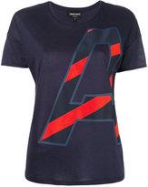 Emporio Armani initial print T-shirt - women - Cotton/Modal - 38
