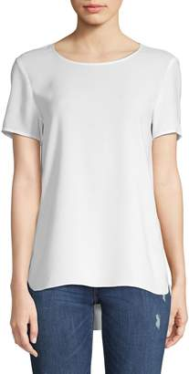 Lord & Taylor Petite Short Sleeve High-Low Tee