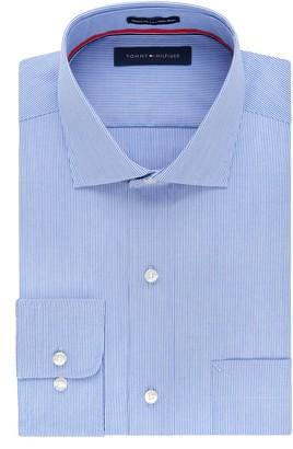 Tommy Hilfiger Men's Regular Fit Non Iron Fineline Stripe