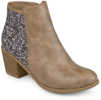 Journee Collection Noble Glitter Heel Ankle Bootie