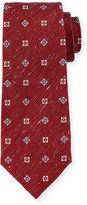 Isaia Textured Neat-Print Silk Tie