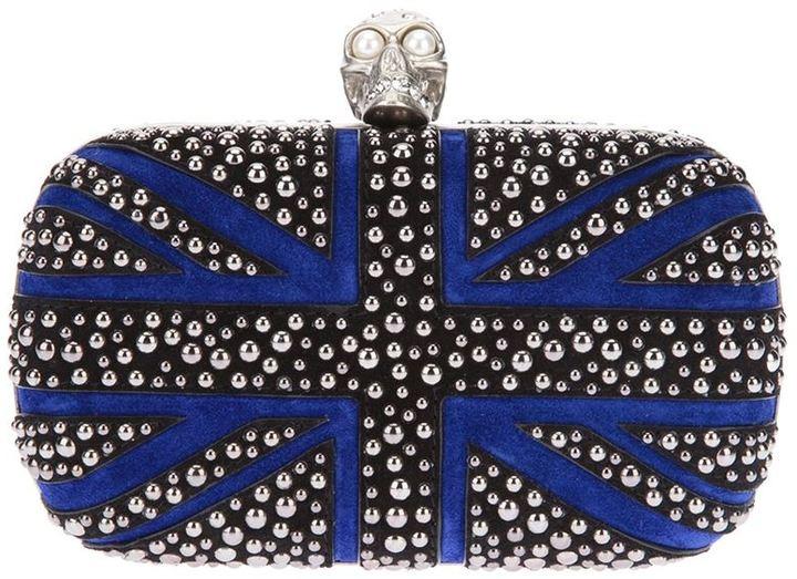 Alexander McQueen 'Britannia' skull box clutch