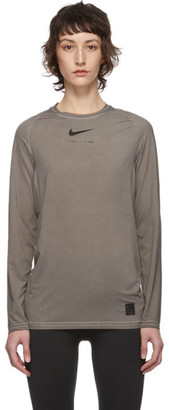 Alyx Taupe Nike Edition Dye Long Sleeve T-Shirt