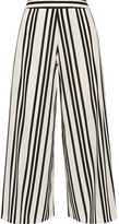 Alice + Olivia Alice Olivia - Sherice Striped Georgette Wide-leg Pants - Ecru