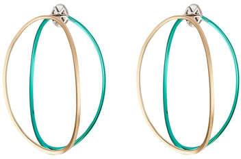 Delfina Delettrez Big Ear-Clipse Hoop Earrings in 18kt Gold