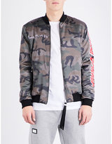 Blood Brother Loyal Satin Bomber Jacket